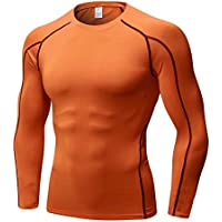 48623fc262e Men s Long-Sleeve Shirt Compression Cool Dry Sports Tight Baselayer Top
