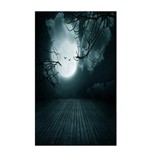 3D Halloween Creepy Kulisse Realistische Horror Thema Hintergrund für Parteien Fotografie Studio Photo Booth (DZ-797) ()