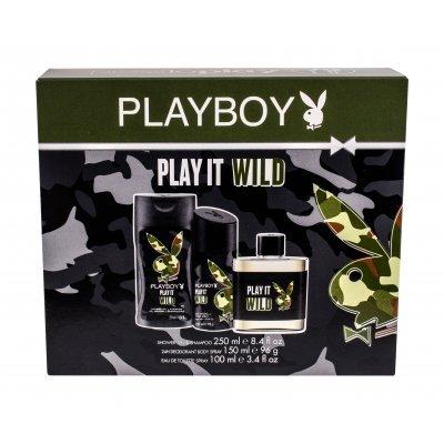 PLAYBOY PLAY IT WILD HIM EDT 100 + GEL 250 + DESODORANTE SPRAY 150ML