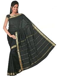 Bollywood Sari Kleid Regenbogen Schwarz