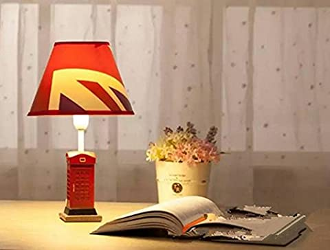 Resin and cloth table lamp E-mail home-style reading room retro table lamp