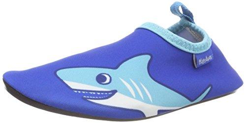Playshoes Unisex-Kinder UV-Badeschuhe Aqua Schuhe Blau, 22/23 EU