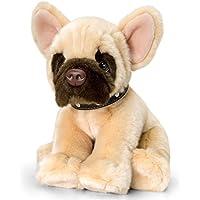 Peluche chien Signature Puppies Bouledogue Français, assis env. 35cm en kit avec Beurre pour le corps Cerise–Cassis, 7ml