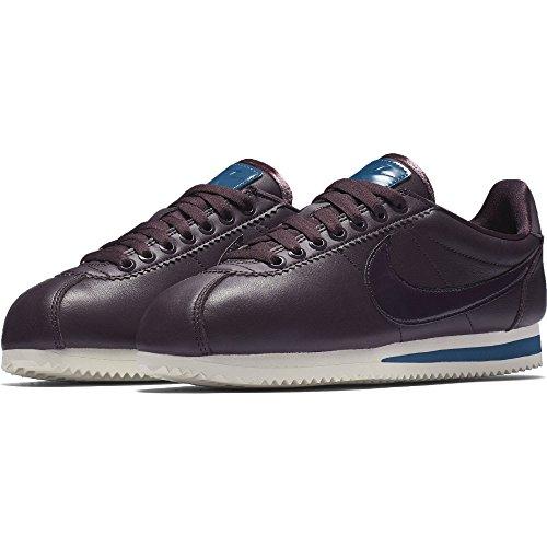 """Nike Classic Cortez Leather Se Premium Prm """"Port Wine"""" Exclusive Collection, Chaussures de Course Pour Femmes Port Wine/Port Wine-Space Blue"""