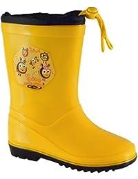 Botas de lluvia o nieve unisex para niños, de la marca Lemigo, color Verde, talla 31 EU Niño