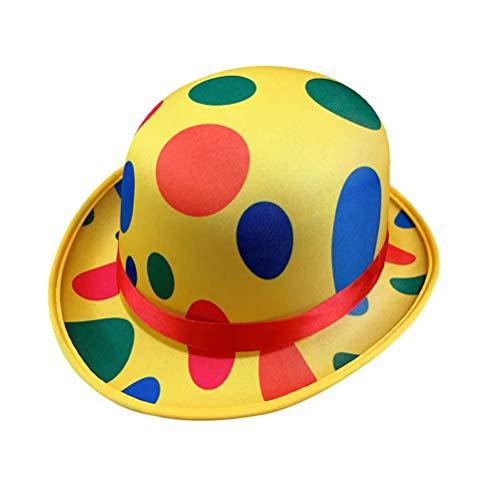 Amosfun Karneval Clown Hut Polka Dot Top Hut Neuheit Bühne Leistung Hut Zirkus Party Kostümzubehör für Festival Ball Party