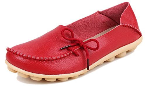 Fangsto  Loafer Flats,  Damen Sneaker Low-Tops Rot