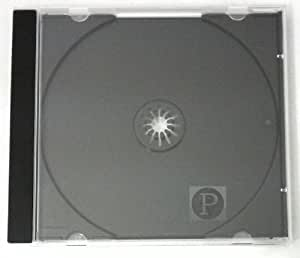 Single CD Slimline Jewel Cases 5.2mm Black Tray(25)