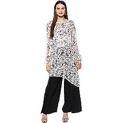 La-Firangi Women's Straight Kurta (STYLE595_off-white_Multicoloured_xx-large)