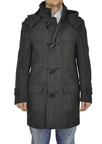 Herren Dufflecoat mit abnehmbarer Kapuze in Grau (PHU-5555-6900) Grey