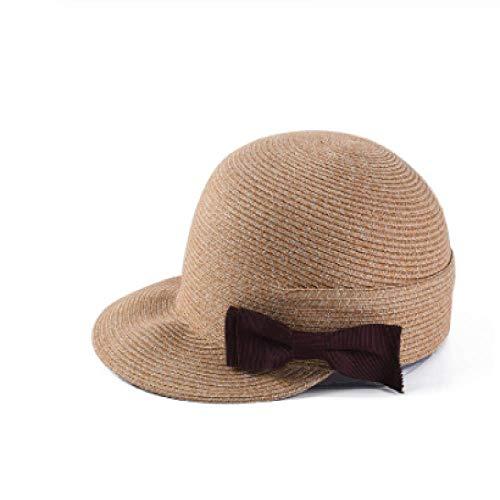 FSDMNFHJEI Sommerhüte, für Frauen Stroh Sonnenhüte lässig Bogen-Knoten-Visier Sonnenschutzkappe Sommer Baumwollgarn Patchwork Baseball Cap (Bogen-baseball-cap)
