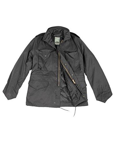 Mil-Tec US M65Field Jacket da uomo, uomo, Feldjacke US M65 Black