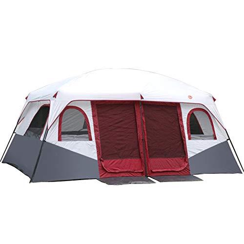 WWAVV Tende da Campeggio Tende da Due Camere E Una Camera da Letto Protezione Solare Antipioggia per Campeggio 8-12 Tende Grandi Tende Multi-Persona