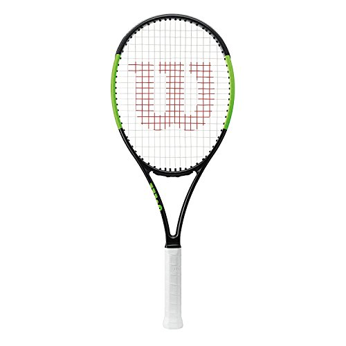 Wilson Raqueta de tenis unisex, Para juego de ataque en la línea de fondo, Para principiantes y expertos, Blade 101L, Medida 3, Negro/ Verde, WRT73380U3