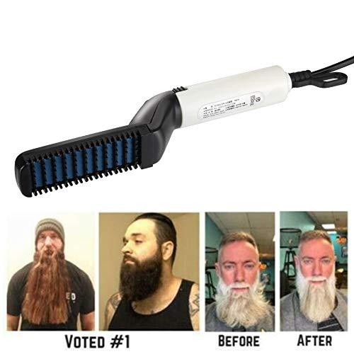 Abracing - Rizador de pelo para hombres, alisador de barba rápido, peine, multifuncional