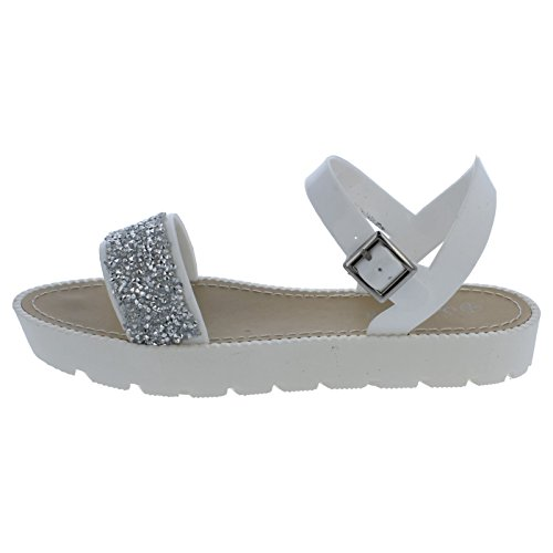 Savannah - Sandales à strass - Femme Blanc - Blanc
