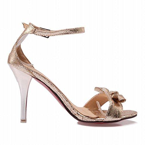 Mee Shoes Damen Stiletto Strass Ankle Strap Sandaletten