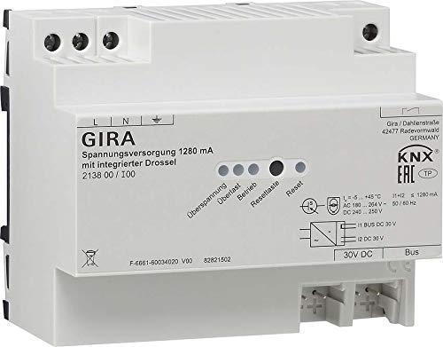 Gira KNX-Spannungsversorgung 213800 1280mA Drossel REG Bussystem-Spannungsversorgung 4010337023241