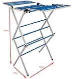 Karson Steels Foldable Steel Cloth Dryer Stand Double Rack Cloth Stands for Drying Clothes Steel Hi Quality Foldable…