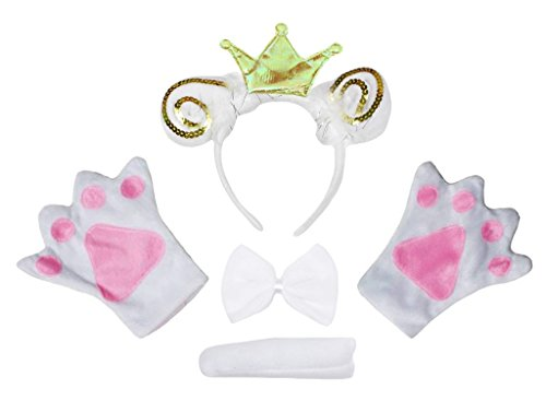 ep Prince Headband Bowtie Tail Gloves 4pc Adult Costume (One Size) (Prince Dress Up Kleidung)