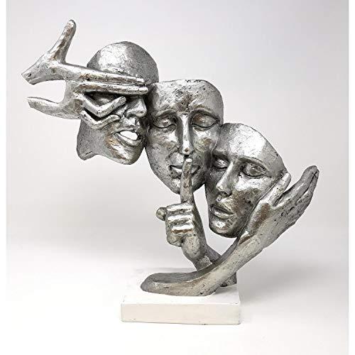 """Formano Skulptur \""""Deko Büste Gesichter\"""", 37 cm, silber"""