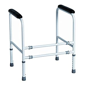 Toiletten Aufstehhilfe Mobile WC Stützhilfe für Senioren, verstellbar in Höhe und Breite