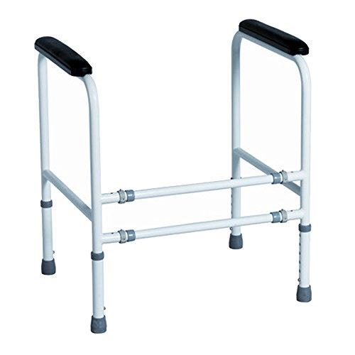 Toiletten Aufstehhilfe Mobile Stützhilfe für Senioren, verstellbar in Höhe und Breite