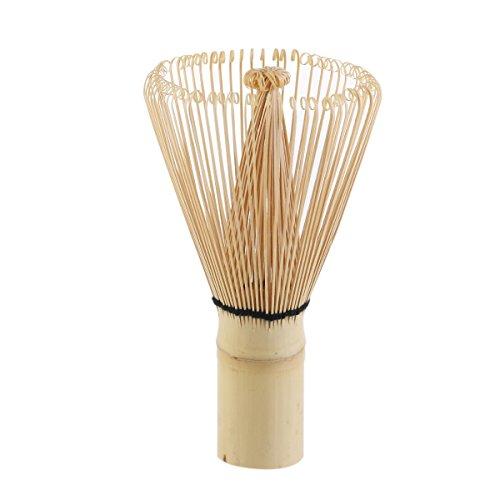 Tinksky 100 cerdas Pondate bambú té Matcha batidor para preparar Matcha