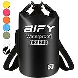 Dry Bag BIFY 5L/10L/15L/20L/25L/30L/40L Leicht Wasserfester Rucksack/Wasserdichte Tasche/Trockensack mit lang Verstellbarer Schultergurt für Boot und Kajak Wassersport Treiben (Schwarz, 40L)