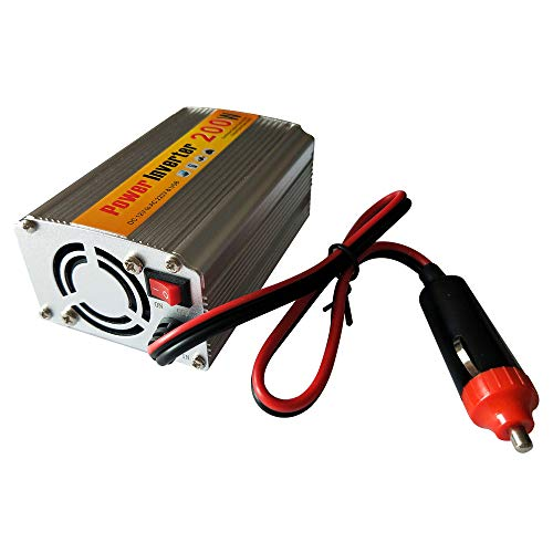 HUKOER 200W Kfz-Wechselrichter DC 12V zu AC 220V mit 1 USB-Anschluss und Steckdosen -