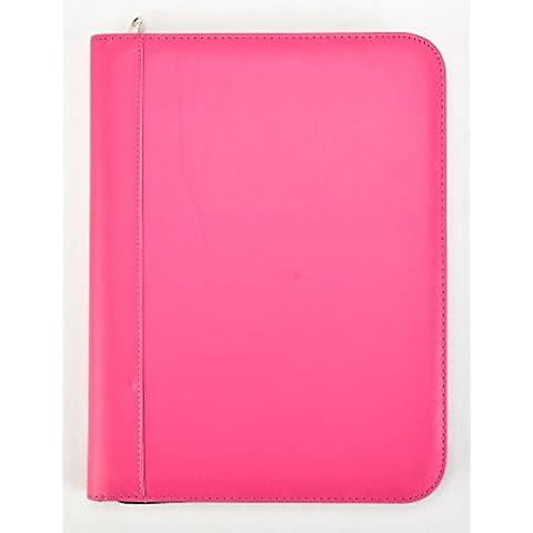 Arpan–Rosa Deluxe–Carpeta para conferencias A4con cremallera con calculadora y Pad/Portafolios de ejecutivo