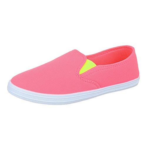 Kinder Schuhe, FY5008, BALLERINAS, SLIPPER STRETCH, Textil , Rosa, Gr 31