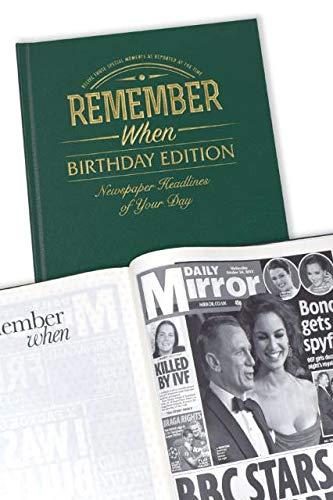 Journal d'anniversaire personnalisé livre Cadeau pour 40e/50e/60E/65e/70e/75/80ans/motif 85/90ans/personnalisée/100ème