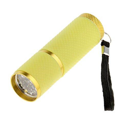 LED Licht Nageltrockner Handheld Taschenlampe für Nagellack Nageltrockner - Gelb ()