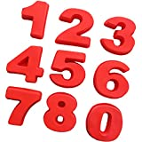 aaasue Große Silikon Zahl Kuchen Blech Backen Geburtstag Jahrestag Zahlen 0–8Kuchen, Pralinen, Gelees moulds-pack von 9