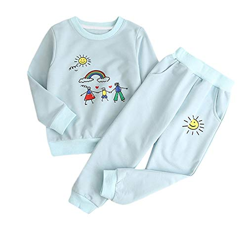 JUTOO Baby Mädchen 2 Stücke Set Kleinkind Kinder Cartoon Print Pullover + einfarbig Sun Hosen Set Outfits ()