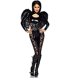 Atixo Black-Angel-Halloween-Kostüm - schwarz