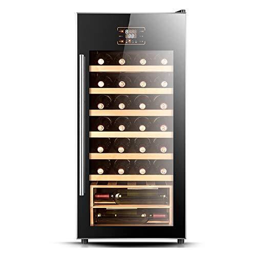 Xiao huang li Weinkühler Weinkühler Weinkühler Kühlschrank konstanter Temperatur und Luftfeuchtigkeit Kühlmöbel Weinkeller Vitrine Massivholzregal 28 Flaschen