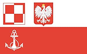 magFlags Flagge: Large POL Military airfields Flag 38-45 | Polish Military airfields Flag 1938-1945 | Wojskowych portów lotniczych 1938-1945 | Querformat Fahne | 1.35m² | 90x150cm &ra
