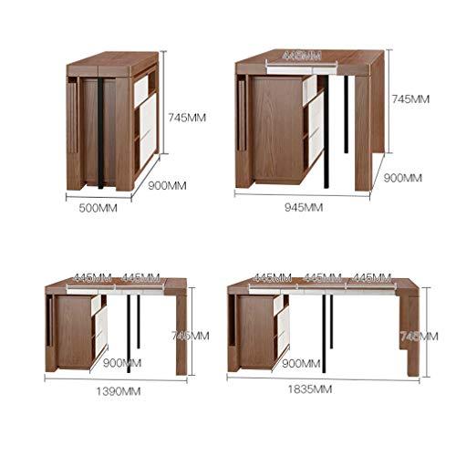 MU Haushalt Klapptisch, Moderne Esstisch Mahlzeit Seitenschrank Einstellbare Schreibtisch Multifunktionale Möbel Sideboard Arbeit Home Tisch Party Schreibtisch