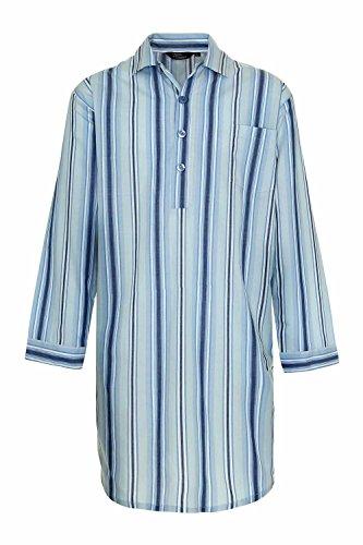 Champion Westminster Chemise de Nuit en Polycoton rayé (Bleu) 4XL