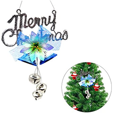 Ciondolo Natale, Moon mood® Christmas Decoration - Christmas Tree Pendant, Christmas charms, Rattan, Christmas Festive Party Supplies