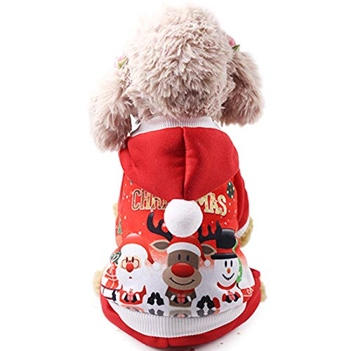 Idepet Weihnachts-Kostüm, für Kleine Hunde, mit Sweatshirt, XXL (Xxl Hund Kostüme)