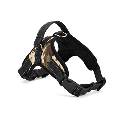 WINOMO Sella Stile Oxford Panno Dog Harness Con D-ring Per Cane - Taglia L (Camuffare)