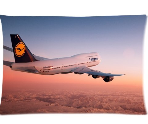 lufthansa-boeing-i-at-sunset-pillowcases-custom-pillow-case-cushion-cover-20-x-30-inch-two-sides