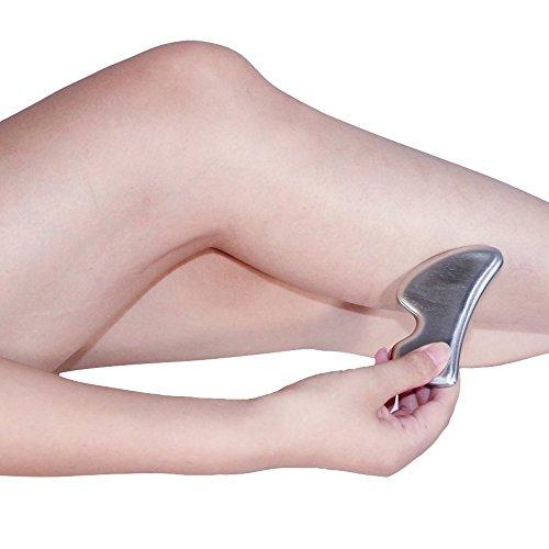 YIY - Herramienta de masaje para espátulas de Gua Sha de acero inoxidable – Herramientas de IASTM de pegamento, herramienta de movilización suave de pañuelos