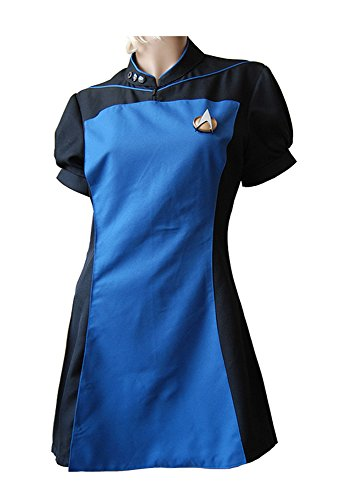 MingoTor Star Trek TNG The Next Generation Teal Skant Uniform Cosplay Kostüm Damen XL