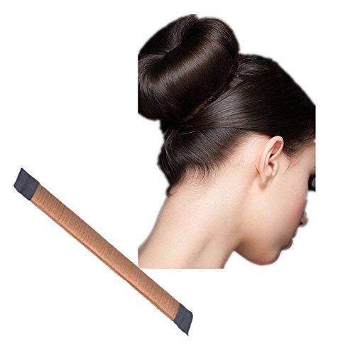 Demarkt Knotenring groß Dutt Duttkissen Haarknoten Knotenrolle Haardutt Donut Knotenkissen Haarschmuck Hair Donut Shaper Hair Bun Maker (Gold)