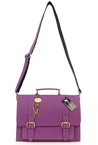 Borsa Satchel/Messenger di Catwalk Collection in pelle -