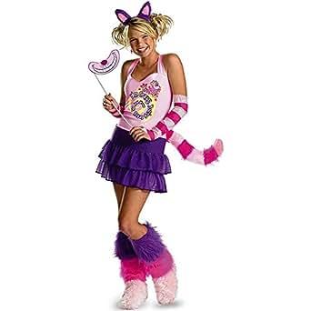D-guisez 179188 Alice au pays des merveilles chat de Cheshire Costume - Rose - Petit - 4-6